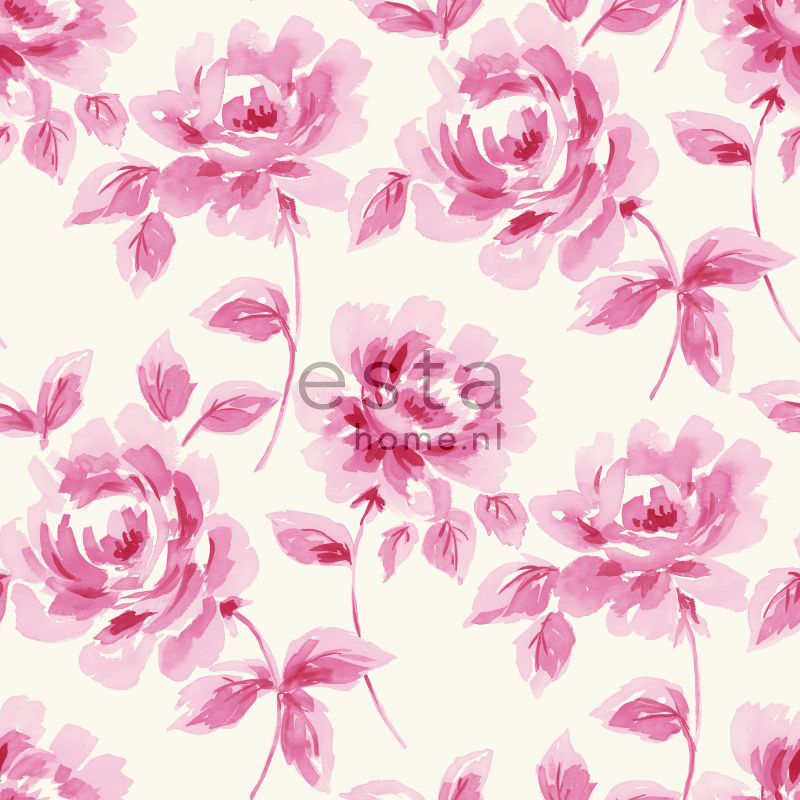 vliesbehang aquarel rozen