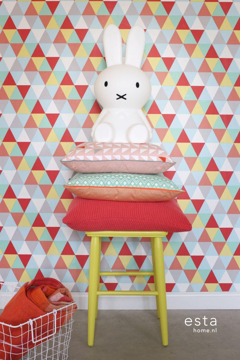 geometrisch behang kinderkamer