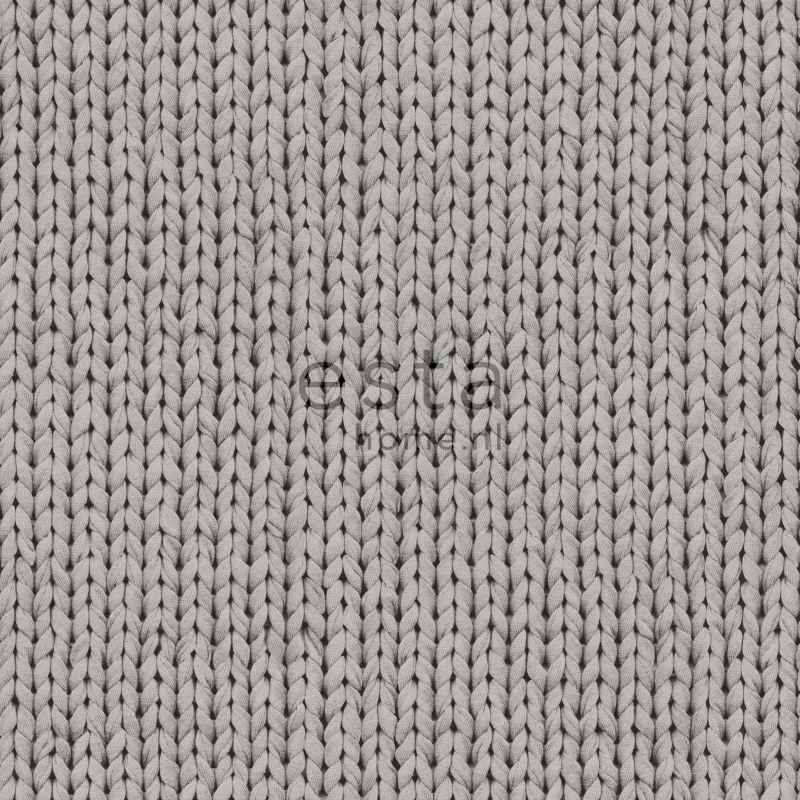 vliesbehang breisel grijs