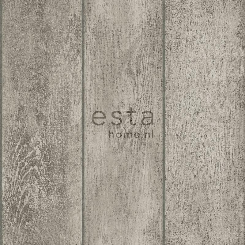 vliesbehang houten planken