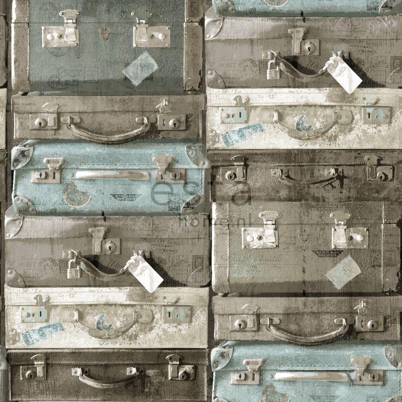 vliesbehang koffers