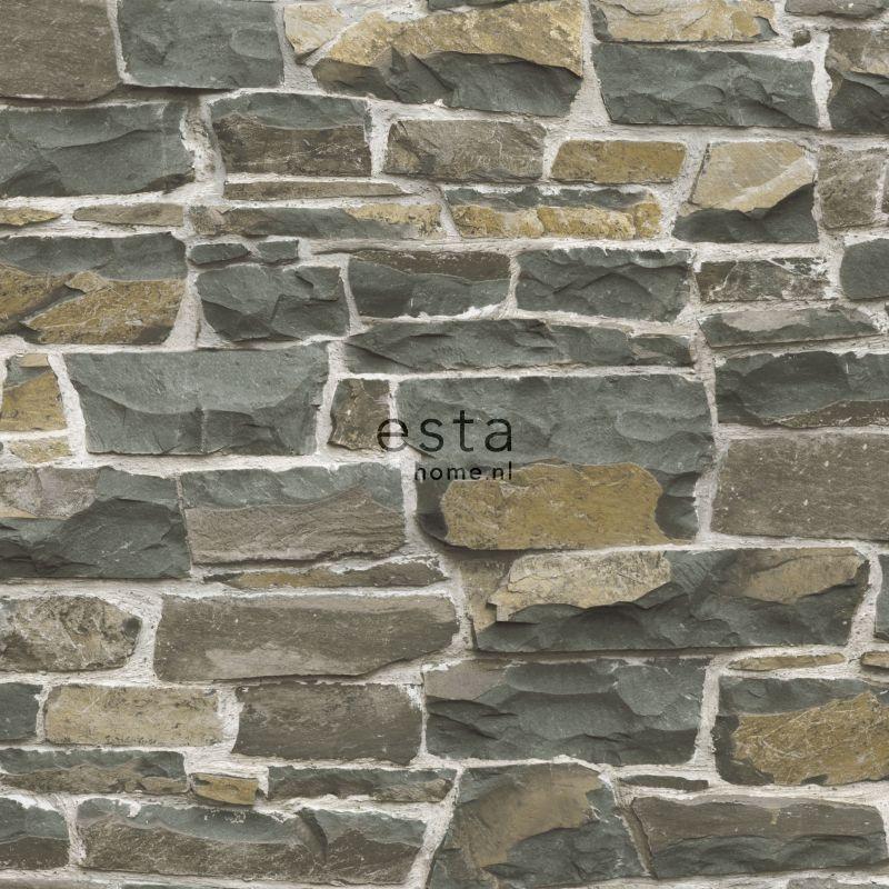 vliesbehang stenen muur