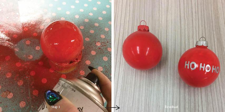 DIY kerstballen verven