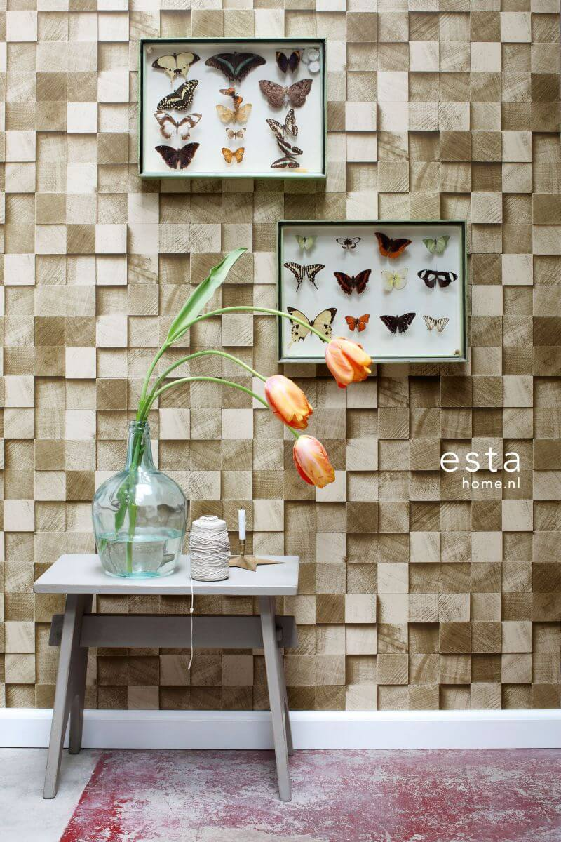 hout behang 3d effect