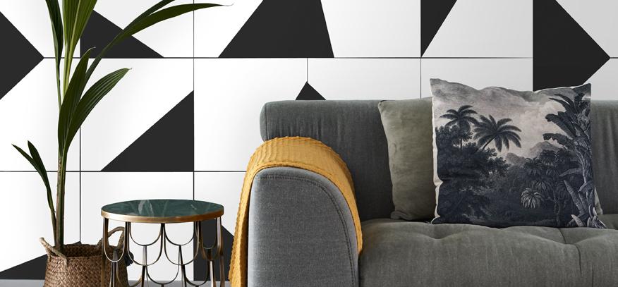 fotobehang zwart-wit