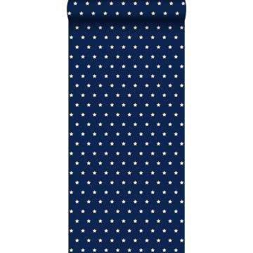 behang sterren marine blauw
