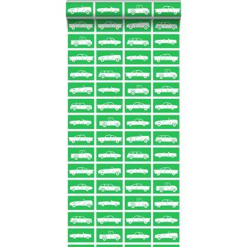 behang auto's groen