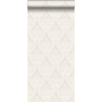 behang barokprint beige