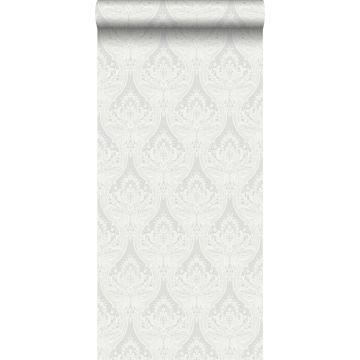 behang barokprint grijs