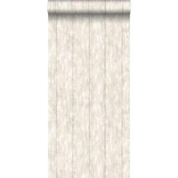 behang sloophout beige