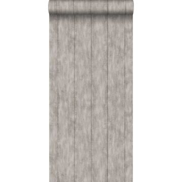 behang sloophout taupe