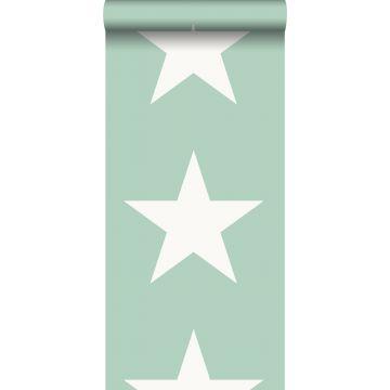 behang sterren mintgroen