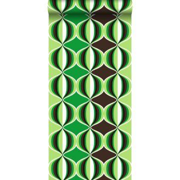 behang grafisch motief groen