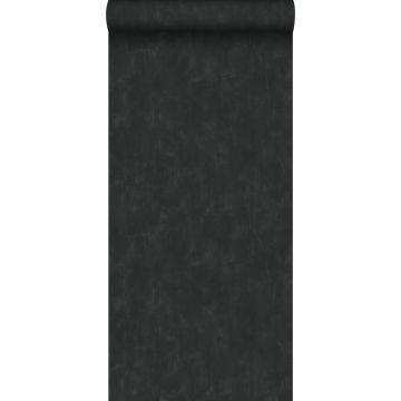 behang geschilderd effect zwart