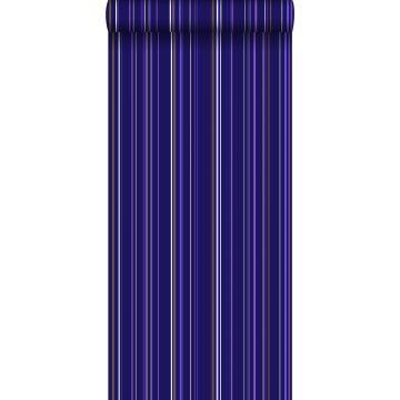 behang strepen paars en bruin