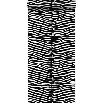 behang zebra's zwart en wit