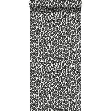 behang panters zwart en wit