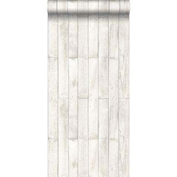 behang houtlook wit