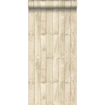 behang houtlook beige