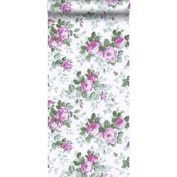 behang rozen paars
