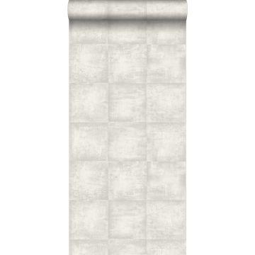 behang betonlook lichtgrijs