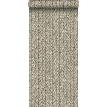 behang touw-motief taupe