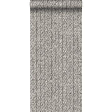 behang touw-motief donkergrijs