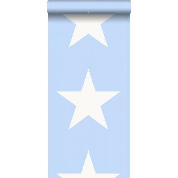 behang sterren lichtblauw