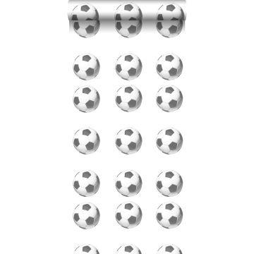 behang voetballen zwart en wit