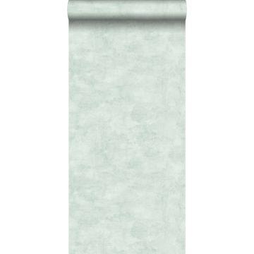 behang betonlook mintgroen
