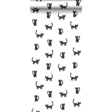 behang katjes zwart en wit