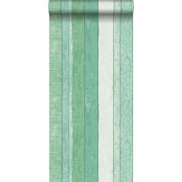 behang sloophout motief groen