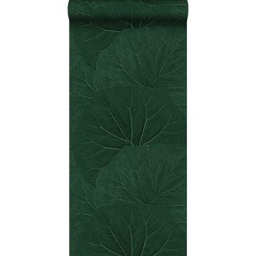 behang grote bladeren emerald groen