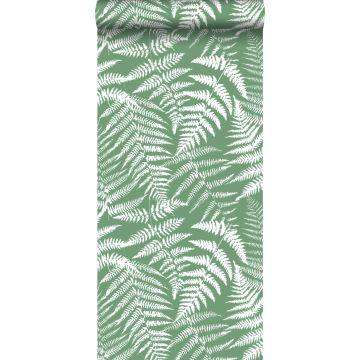 behang varens groen