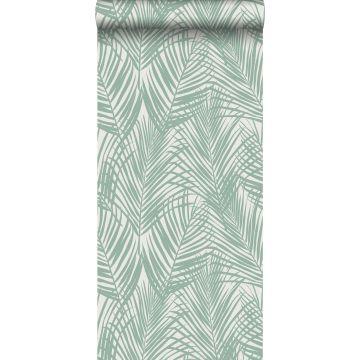 behang palmbladeren mintgroen