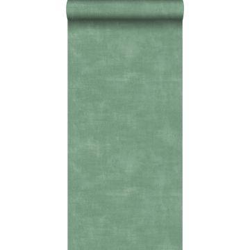 behang betonlook groen