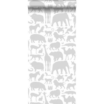 behang dieren grijs