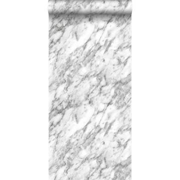 behang marmer zwart wit