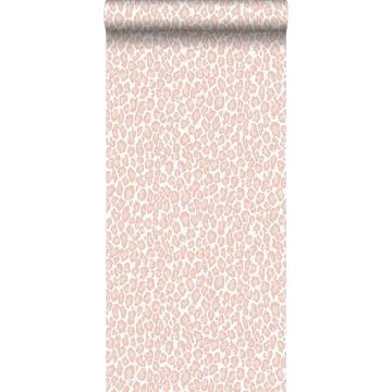 behang panterprint zacht roze
