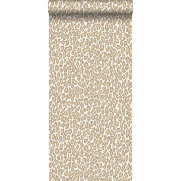 behang panterprint donker beige