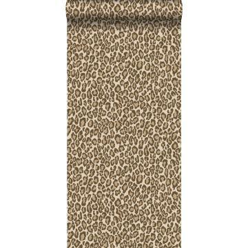 behang panterprint bruin