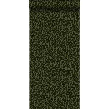 behang panterprint donkergroen