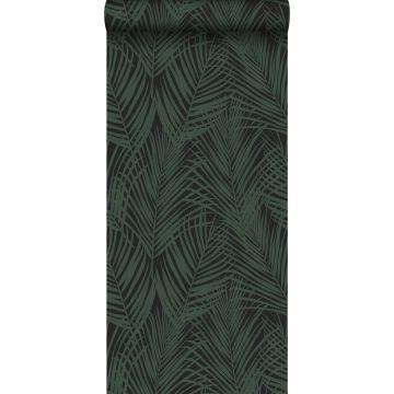behang palmbladeren donkergroen