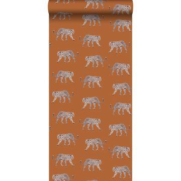 behang panters warm oranje