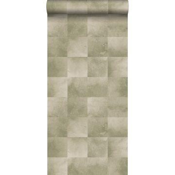 behang dierenhuid warm beige