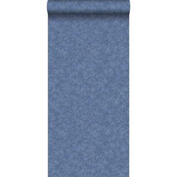 behang effen blauw