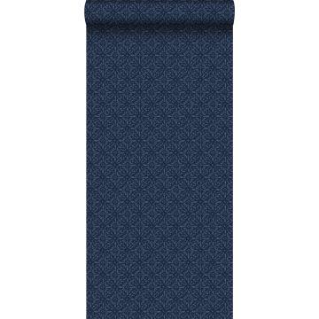behang oosters motief blauw