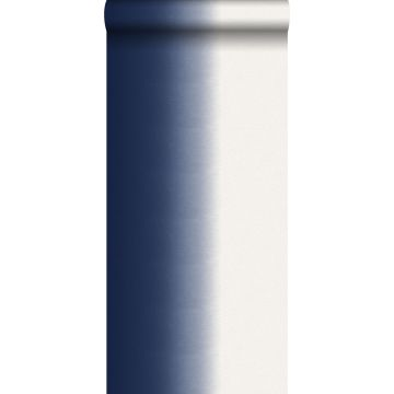 behang dip dye motief donkerblauw
