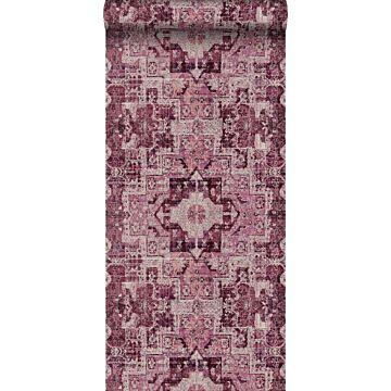 behang oosters kelim tapijt bordeaux rood