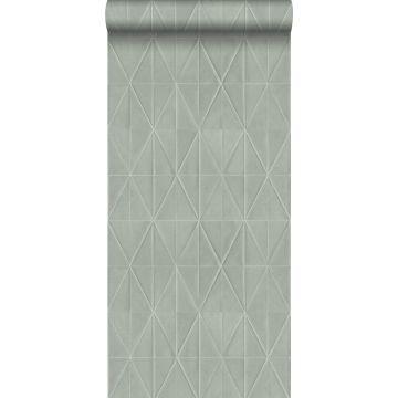 eco texture vlies behang origami motief lichtgrijs